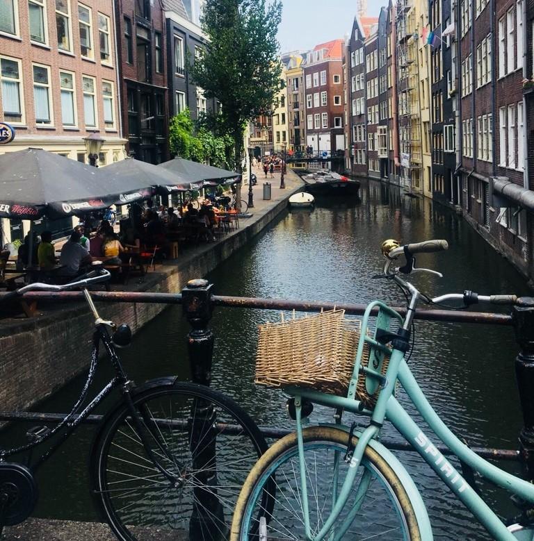 Fahrrad Holland mit Häuser