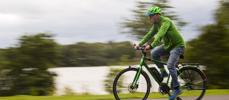 Foto Fahrradpreis 3, Fahrradfahrer Grün