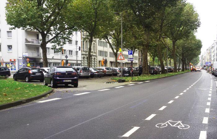 Radweg Köln Hansaring