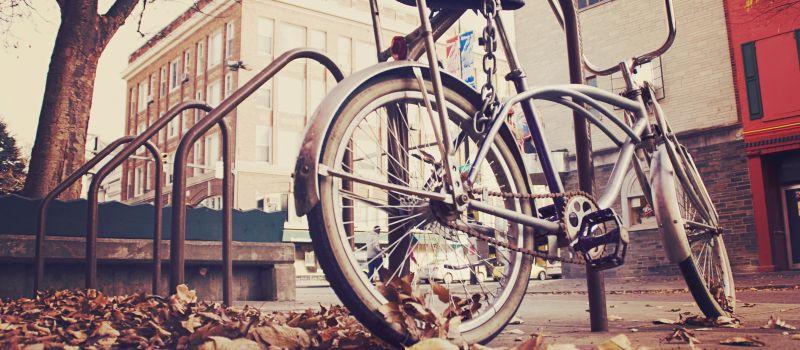 Fahrradfahren im Herbst