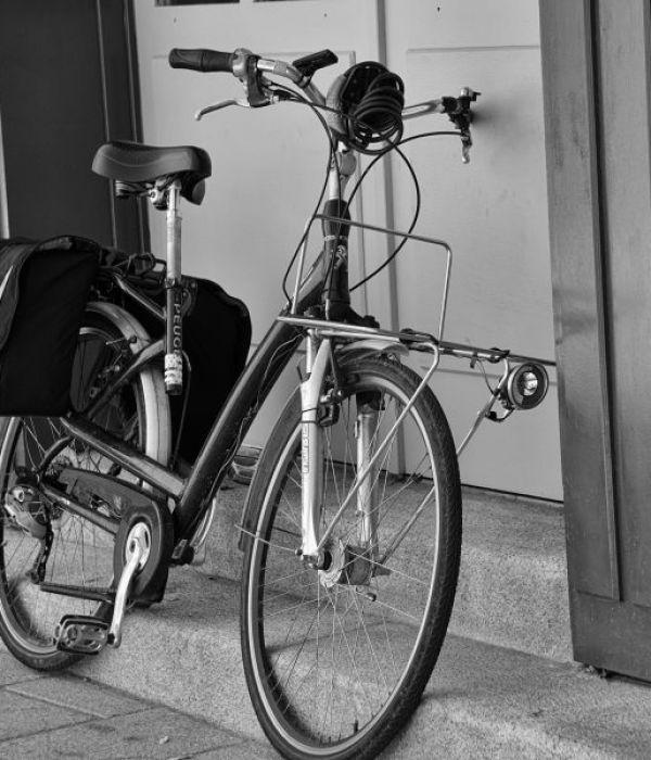 Transport mit dem Fahrrad.